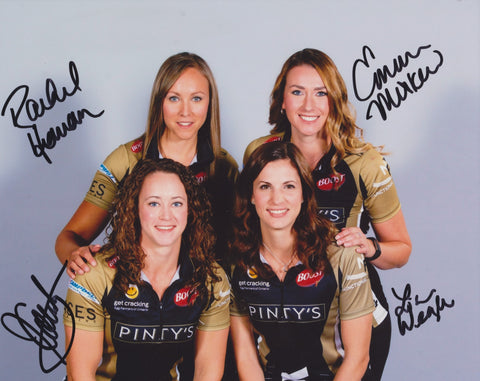 2018 CANADA OLYMPIC WOMEN'S CURLING TEAM SIGNED 8X10 PHOTO