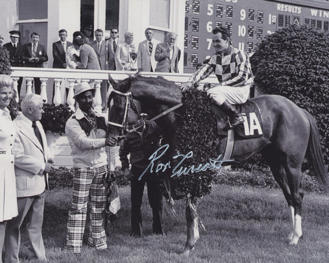 RON TURCOTTE SIGNED SECRETARIAT TRIPLE CROWN WINNER 8X10 PHOTO 2