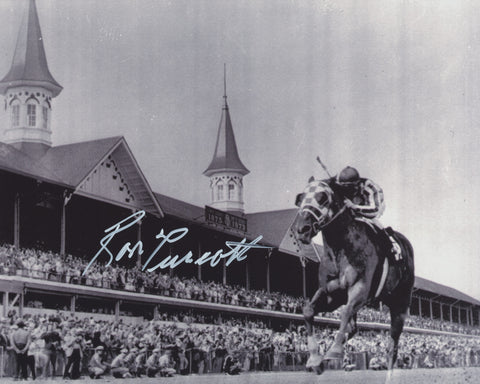 RON TURCOTTE SIGNED SECRETARIAT TRIPLE CROWN WINNER 8X10 PHOTO