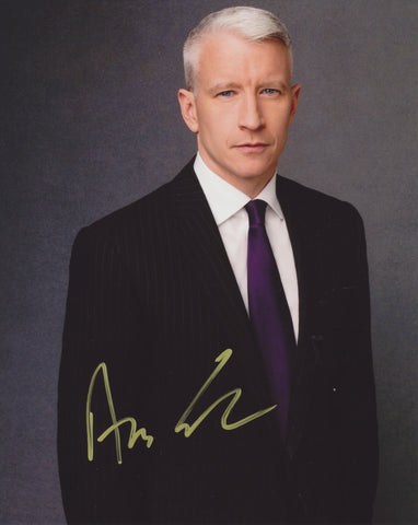 ANDERSON COOPER SIGNED CNN 8X10 PHOTO 3