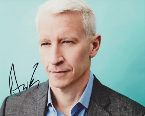 ANDERSON COOPER SIGNED CNN 8X10 PHOTO 5