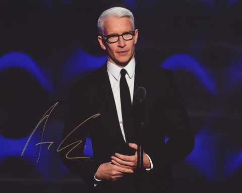 ANDERSON COOPER SIGNED CNN 8X10 PHOTO