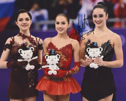 KAETLYN OSMOND SIGNED 2018 OLYMPIC FIGURE SKATING 8X10 PHOTO 2