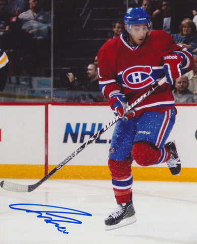 AARON PALUSHAJ SIGNED MONTREAL CANADIENS 8X10 PHOTO