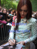 LILY COLLINS SIGNED 8X10 PHOTO 2