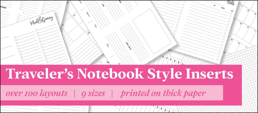 the1407planners • Traveler's Notebook • Planner Inserts