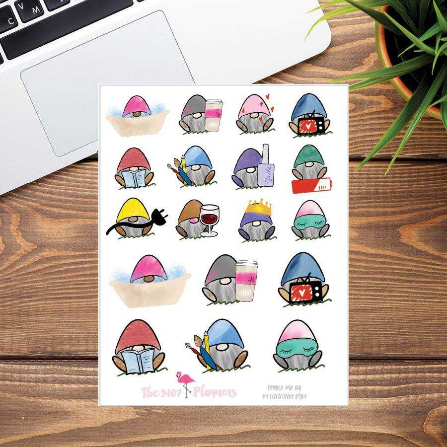 Fred Self Care Stickers | the1407planners