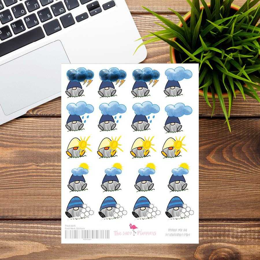Fred Weather Stickers | the1407planners