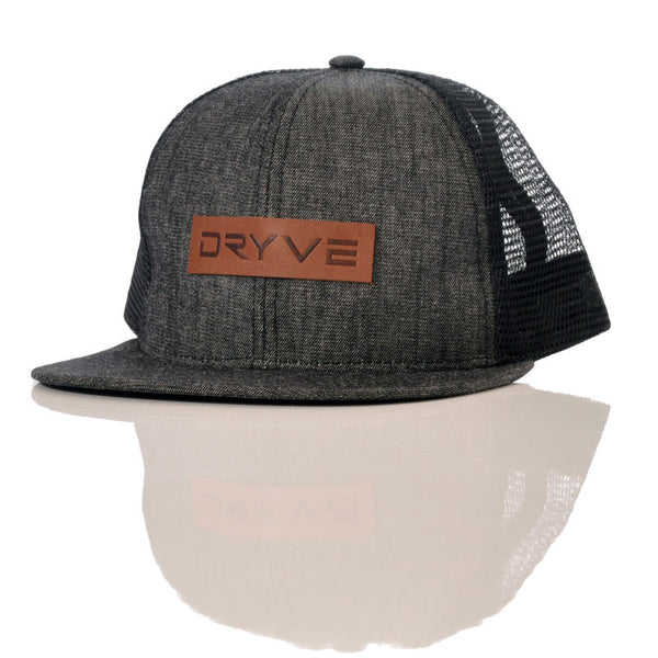 d0846dab394 Leather and Denim Snapback Hat – Dryve Wheels