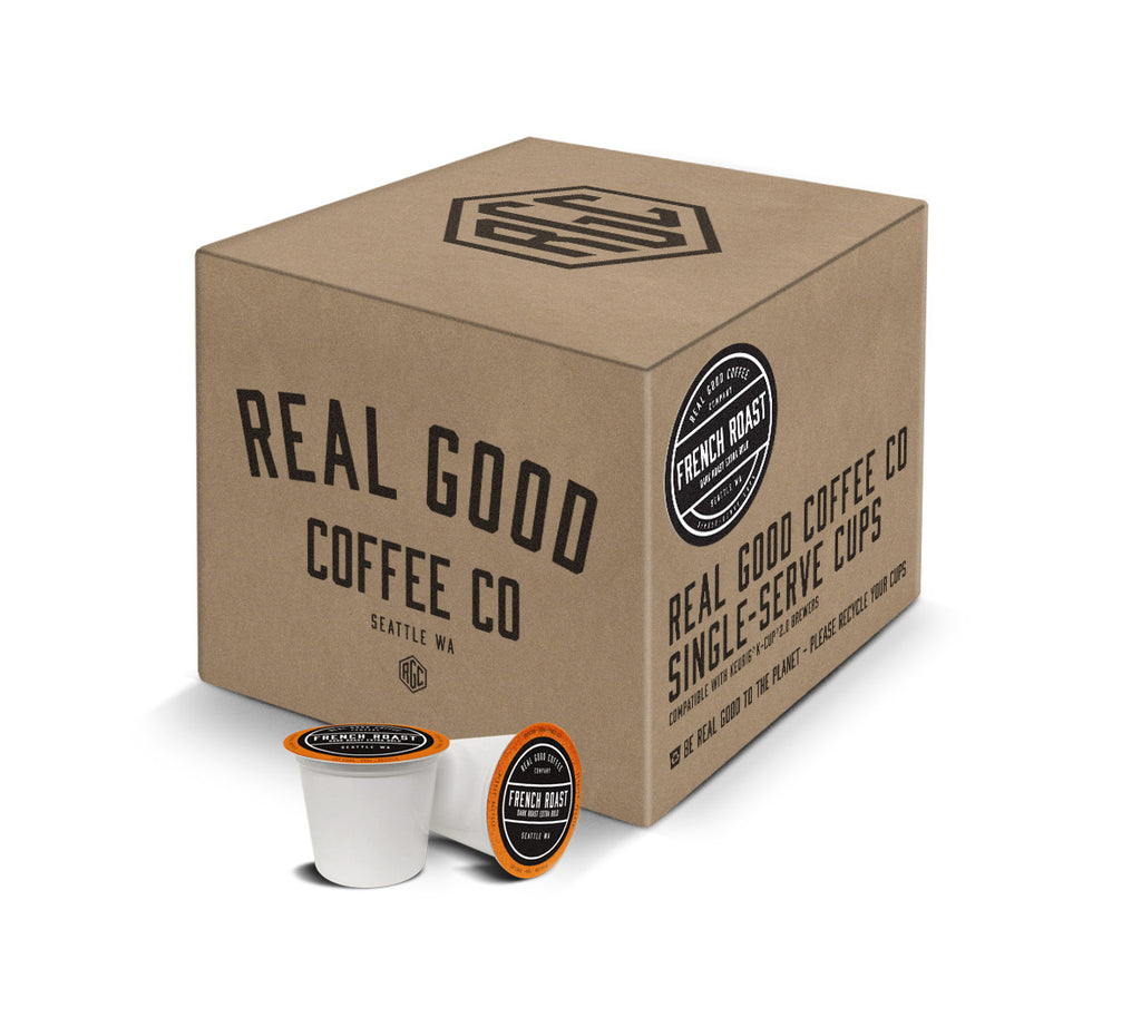 Real Good Coffee French Roast Single Serve Cups