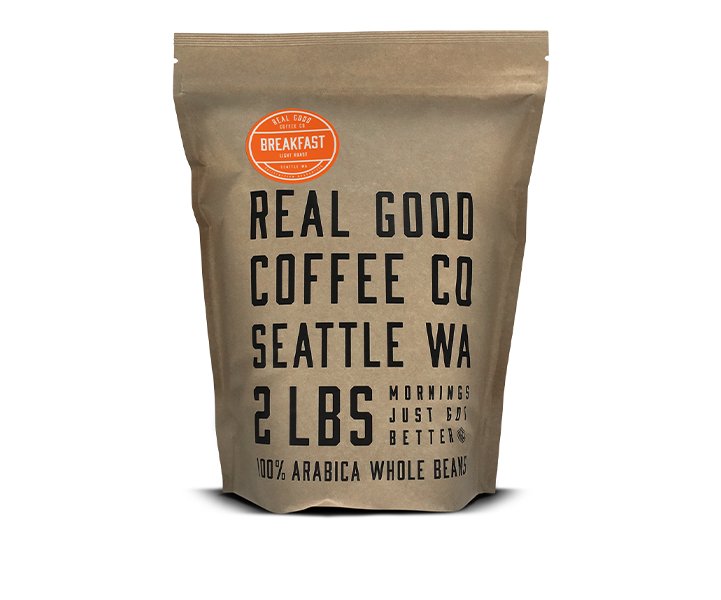 Breakfast Blend Light Roast Whole Bean Coffee 2 LB