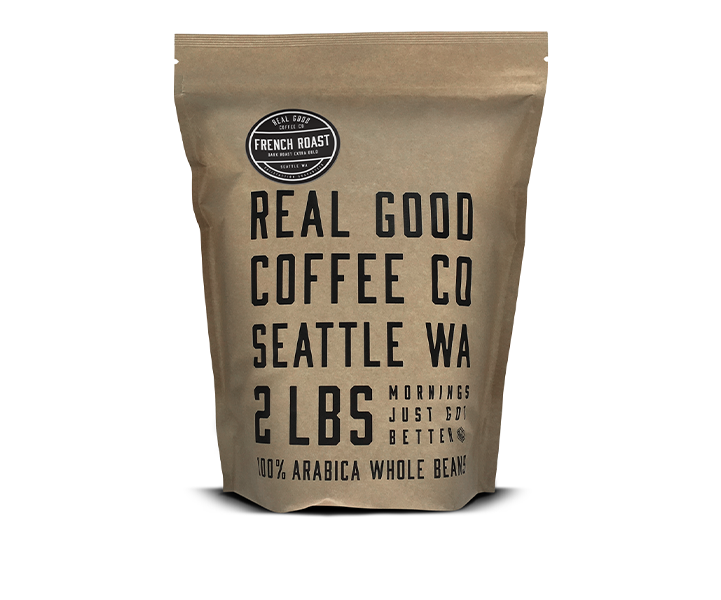 Dark French Roast Whole Bean Coffee 2 LB