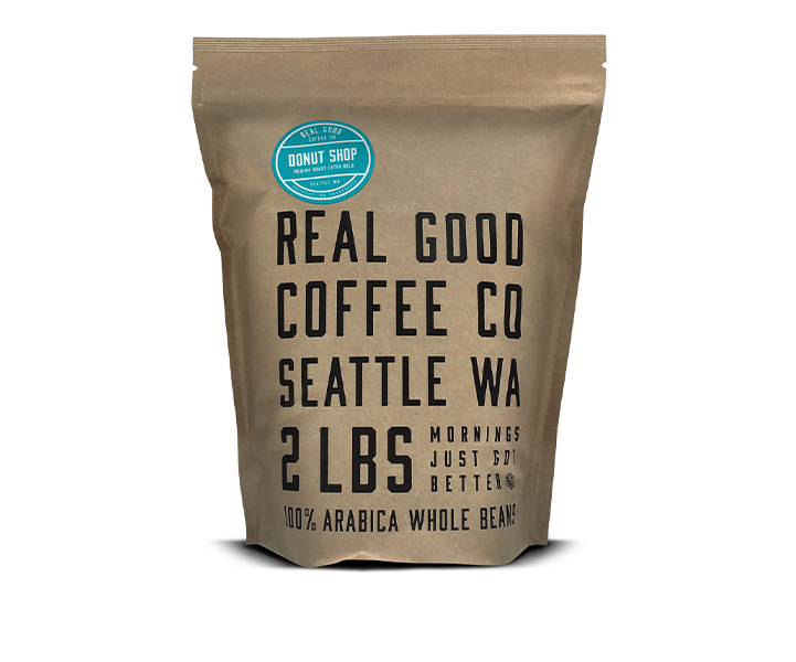 Donut Shop Medium Roast Whole Bean Coffee 2 LB