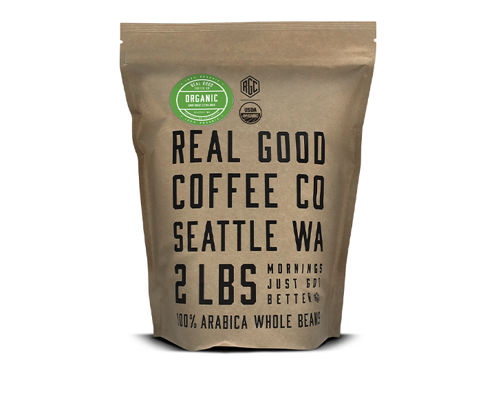Organic Dark Roast Whole Bean Coffee 2 LB