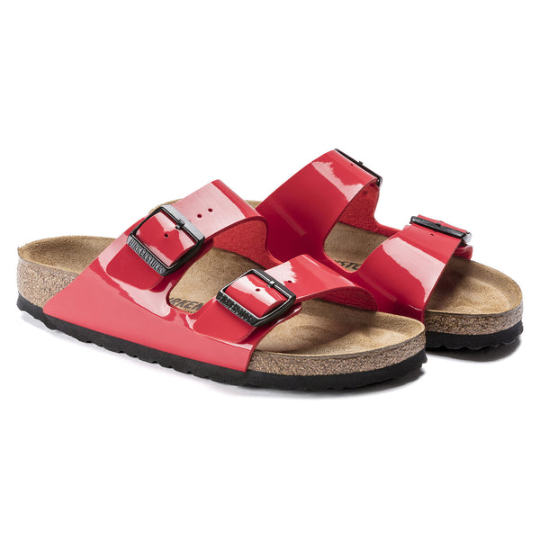 BIRKENSTOCK: PATENT LEATHER CHERRY ARIZONA SANDAL