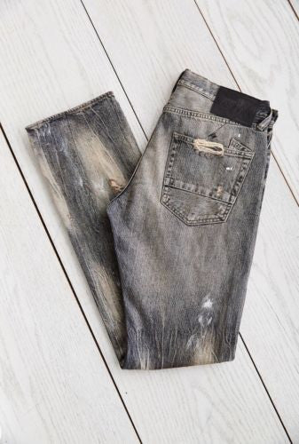 PRPS Goods & Co : Demon Dusty Slim Black Denim Jean - 85 86 eightyfiveightysix