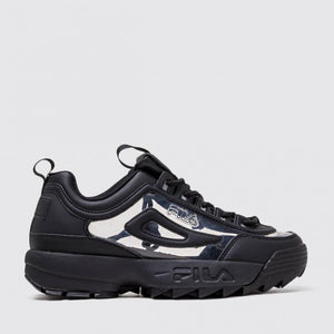 FILA BLACK DISRUPTOR II CLEAR SHOE - 8586