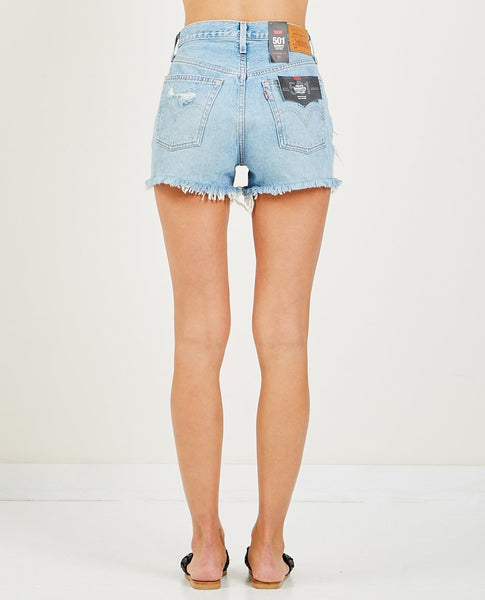 LEVIS FAULT LINE HIGH WAISTED 501 JEAN SHORTS - 8586