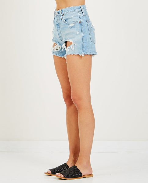 LEVIS WOMENS CUT OFF SHORTS FAULT LINE - 8586