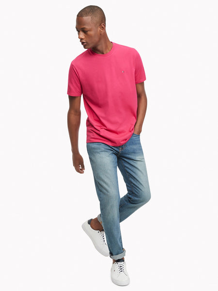 Tommy Hilfiger AIRFORCE PINK CORE FLAG TEE - 8586