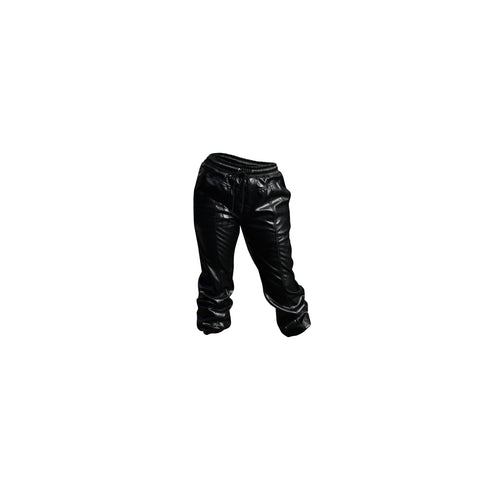 CELLO BLACK PLEATHER WOMEN'S JOGGER PANTS - 8586
