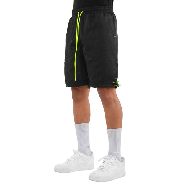 EPTM HYPER BLACK NEON YELLOW TRACK SHORTS - 8586