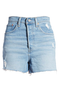 LEVIS PREMIUM RIBCAGE DISTRESSED DENIM SHORTS - 8586