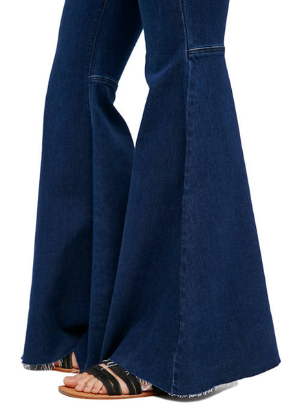 free people women's just float on blue midnight flared jeans - 8586