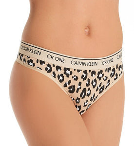 CALVIN KLEIN: CK ONE ANIMAL PRINT THONG UNDERWEAR