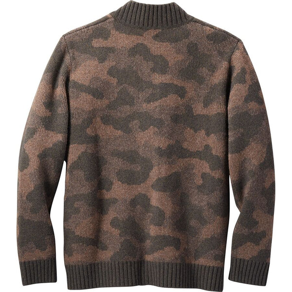 PENDLETON WOOL CAMOUFLAGE BUTTON UP  SWEATER - 8586