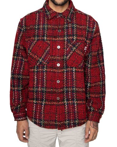 eptm mens heavy flannel shirt red - 8586
