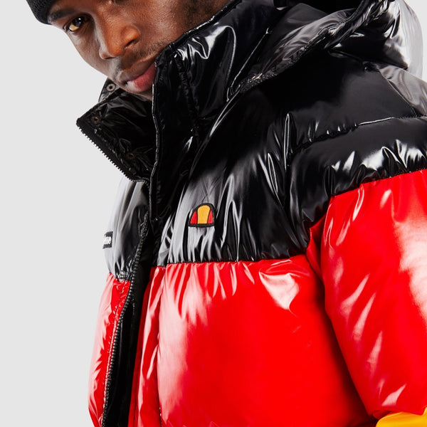 ellesse black red yellow padded jacket - 8586