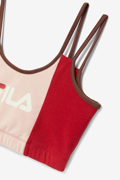 FILA WOMENS RED INDIRA BRALETTE TOP - 8586