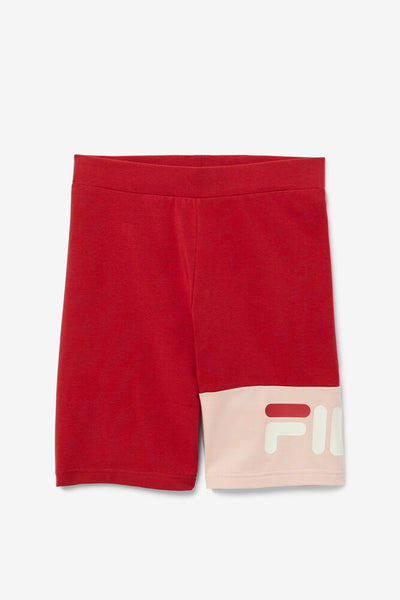 FILA KAIRA RED BIKER SHORTS - 8586