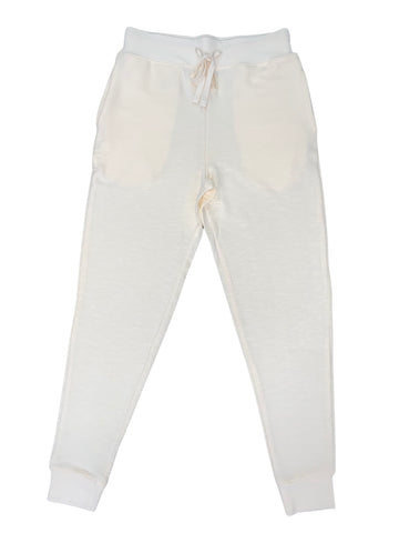 women's lounge French Terry cream jogger pants - 8586