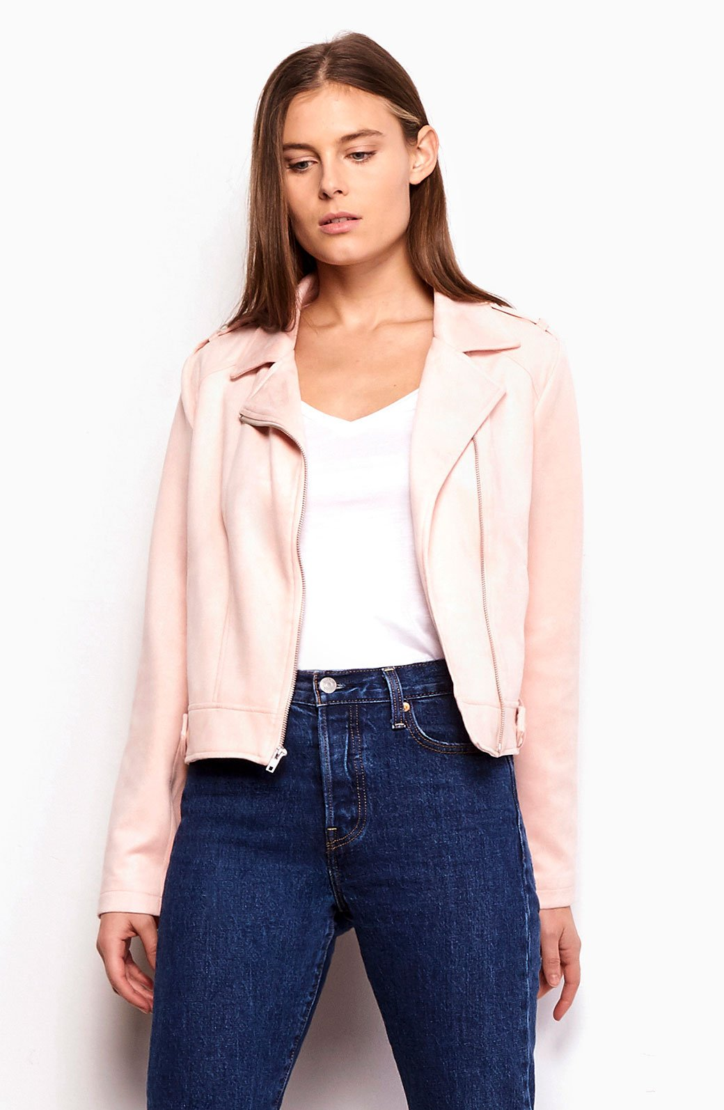 JACK BY BB DAKOTA: WEIR FAUX SUEDE MOTO JACKET - 85 86 eightyfiveightysix