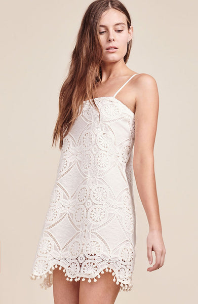 JACK BY BB DAKOTA: DANNA WHITE LACE DRESS - 85 86 eightyfiveightysix