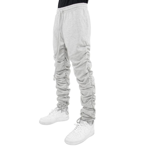 EPTM HEATHER GREY SWEATS ROUCHING - 8586