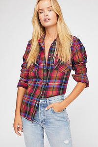 WRANGLER: OVERSIZED PLAID WESTERN SHIRT - 85 86 eightyfiveightysix