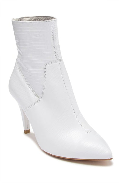 FREE PEOPLE WILLA WHITE ANKLE BOOT - 8586