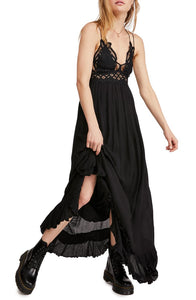 free people adella black maxi dress - 8586