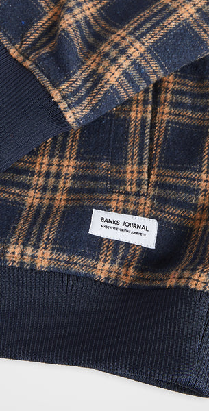 BANKS JOURNAL DECADE PLAID EXPRESSO JACKET - 8586