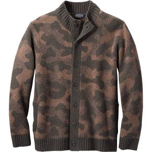 PENDLETON MEN'S CAMO CARDIGAN SWEATER - 8586