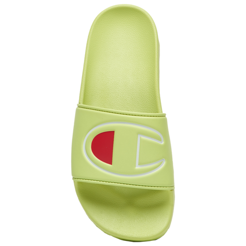 CHAMPION WOMENS LIME GREEN SLIDE - 8586