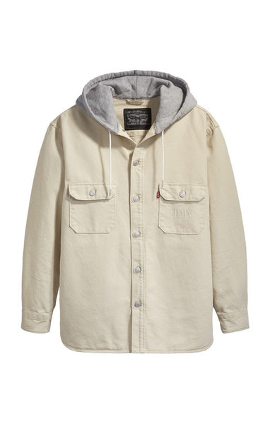 LEVIS MENS FOG OFF WHITE OVER SHIRT - 8586