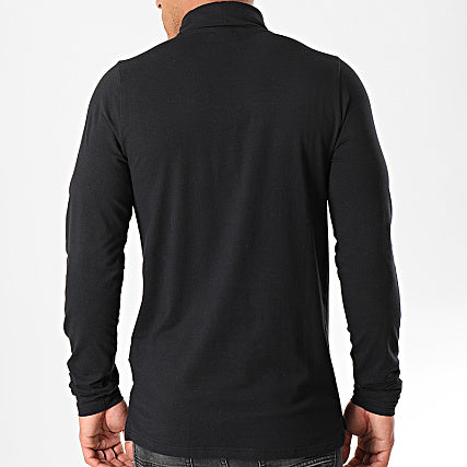 ELLESSE: AMICA BLACK TURTLENECK LONG SLEEVE TEE