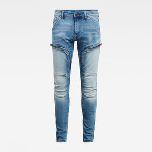 G-STAR: AIR DEFENCE ZIP SKINNY JEANS SUN FADED AZURITE
