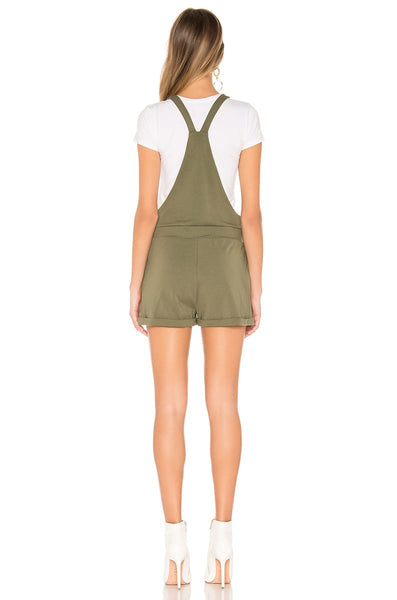 BB DAKOTA: GET SHORTIE FRENCH TERRY SHORTALLS