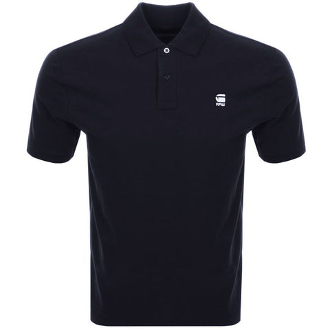 GSTAR RAW DUNDA BLACK SLIM FIT POLO SHIRT - 8586