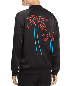 NANA JUDY: HOTEL CALIFORNIA BLACK EMBROIDERED BOMBER JACKET - 85 86 eightyfiveightysix
